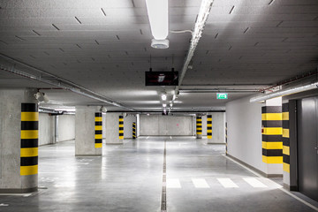 interior of the car park