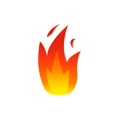 Flame fire icons. Vector illustration.