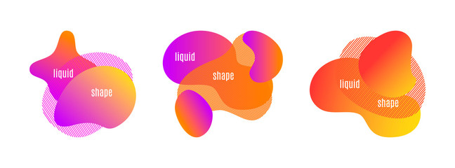 Liquid abstract shapes. Modern vector design with text. Suitable for banners, backgrounds, templates and cards.