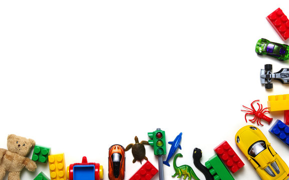Kids toys and colorful blocks