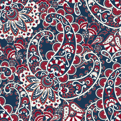 Seamless Paisley pattern. Damask paisley pattern for decoration design.
