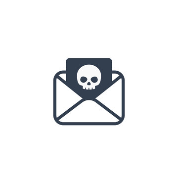 email with virus, phishing icon