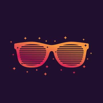 shutter sunglasses, shades vector