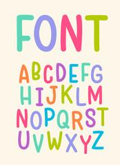 Vector of trendy alphabet, font design, typographic.