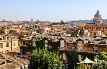 View of Rome from the Pincio Hill, Rome, Italy