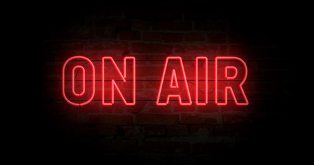 On air neon sign Wall mural