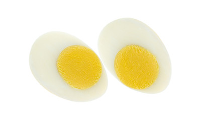 boiled egg isolated on white background