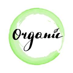 Lettering inscription organic.