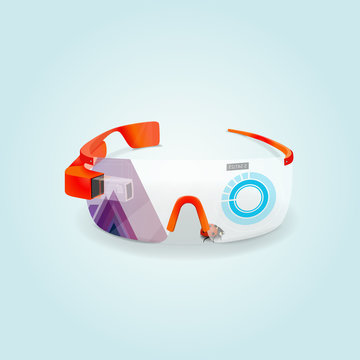 Glasses virtual and more reality. Vector