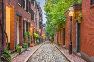 Fototapete - Acorn Street in Boston, Massachusetts