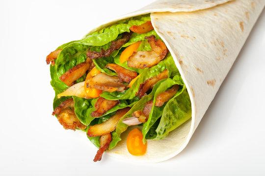 Kebab, wrap, tortilla