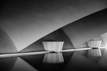 gray bridge platform panoramic photo