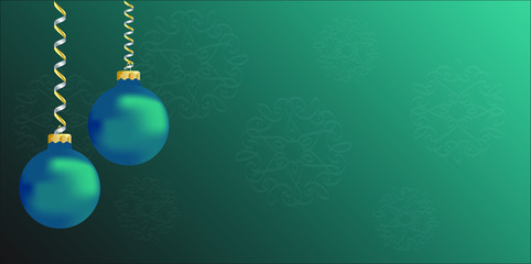 Teal Christmas ornament background