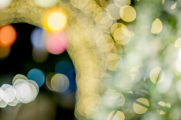 Colorful lights On New Year's Day, Bokeh circle lights, background image with copy space.