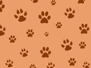 The background marks the paws of animals