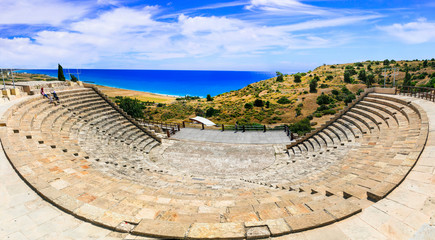 Tuinposter Rudnes Curium Ancient Theater, (Kourion) - antique landmarks of Cyprus