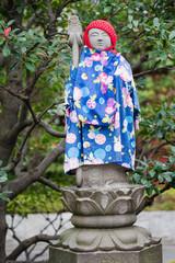 Jizō statue at the Buddhist Senso-ji temple in Tokyo, Japan