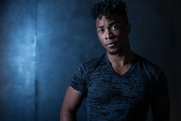 Portrait of handsome young African American man