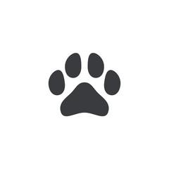 Paw icon. Paw shape. Animal footprint. Logo element. Animal foot print