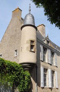 Ville de Mayenne, hôtel de Chappedelaine, place de Cheverus, département de la Mayenne, France