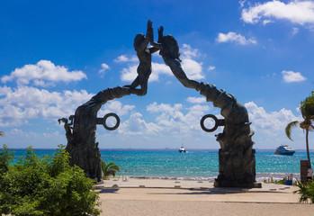 Sunny day  at Playa del Carmen, Mexico