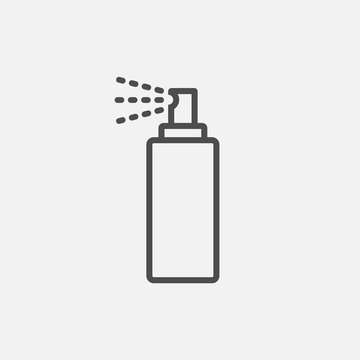Bottle spray icon isolated on white background. Vector illustration.