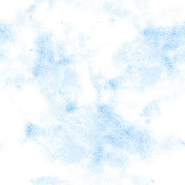 Abstract watercolor blue sky seamless pattern