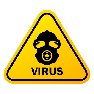 Virus danger yellow sign