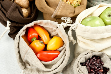 Zero Waste Food Storage Eco Bag Top View