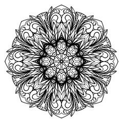 Ornamental round lace. Sacred oriental mandala. color floral ornament. Modern Decorative vector illustraation