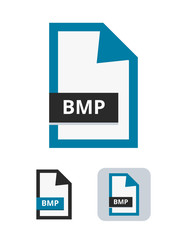 Bmp file flat vector icon. Symbol of raster graphics bitmap BMP file for pictures, photos, images, graphic, web and print isolated on a white background.