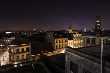 Photo sur Plexiglas Bruxelles brussels evening cityscape belgium