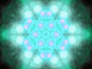 Golden fractal sky with stars, digital artwork for creative grap