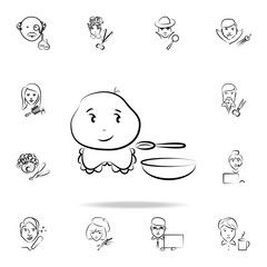 baby avatar sketch style icon. Detailed set of profession in sketch style icons. Premium graphic design. One of the collection icons for websites, web design, mobile app