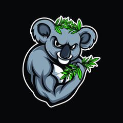 Muscular koala mascot