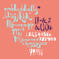 Bold calligraphic playful font with ink texture