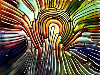 Vibrant Iridescent Glass