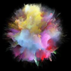 Paradigm of Colorful Paint Splash Explosion