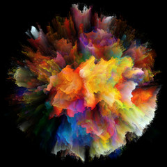 Virtualization of Colorful Paint Splash Explosion