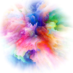 Virtual Colorful Paint Splash Explosion
