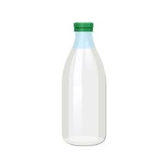 Bottle of milk vector