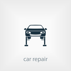 Car lifting icon. car repair icon