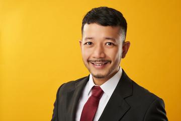 Happy asian guy headshot