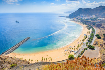 Photo sur Aluminium Iles Canaries Wonderful view from Mirador Las Teresitas. Tenerife. Canary Islands..Spain