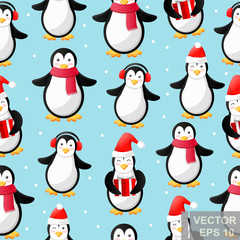 Penguin. cartoon style. Funny. Bright. Children's. For your design.