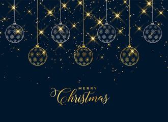 lovely christmas hanging balls sparkle background