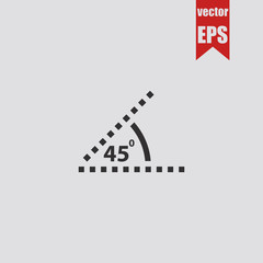Angle of 45 degrees icon.Vector illustration.