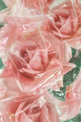 Pink Plastic Roses