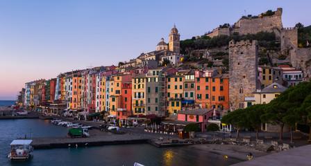 View of portovenere city La Spezia  at summer day, Italy