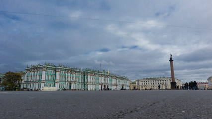 Palace square main landmark in Saint Petersburg panoramic